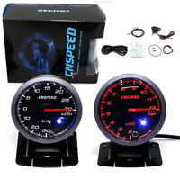 2.5'' 60mm LED Turbo Boost Pressure PSI + Exhaust EGT EXT Gas Temperature Gauge