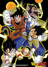 Dragonball Z Goku and Vegeta Fight Wall Scroll Poster Anime Manga NEW