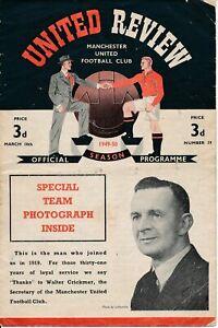 1949/50  Manchester United v Blackpool