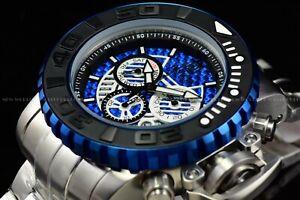 Invicta 70mm Full Sea Hunter Jason Taylor JT Limited Ed Swiss Black Blue Watch