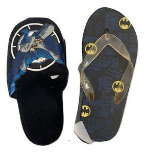 Batman Boys Blue Slippers and Flip Flops Combo