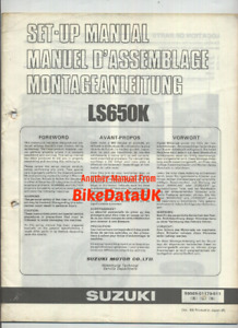 Suzuki LS650 Savage (1989 >>) Genuine Factory PDI Set-Up Manual LS 650 CY69