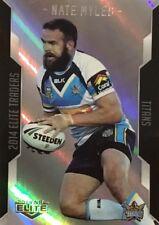 2014 NRL ELITE SILVER PARALLEL GOLD COAST TITANS NATE MYLES P38 CARD