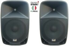 "Italian Stage By Proel Casse BI - Amplificate Attive Diffusori Audio Dj Live 8"""