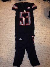 Louisville Cardinals #53 Amonte Caban Blackout Football Game Uniform 9/17/15