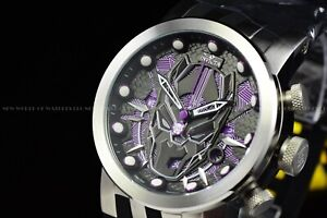 Invicta 46mm Men DNA Marvel Black Panther Chrono Lim Ed Swiss Black Purple Watch