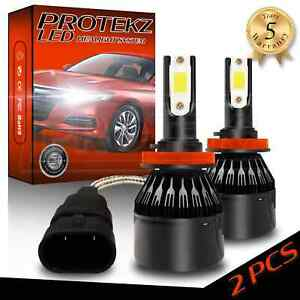Protekz LED Headlight Kit 2 Bulbs CREE 9012 6000K for 2012 - 2019 Fiat 500
