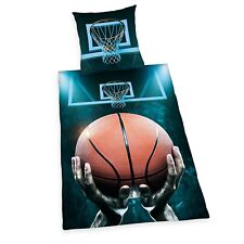 Bettwäsche Herding glatt Basketball Zipper Geschenk 135 x 200 Geschenk NEU WOW