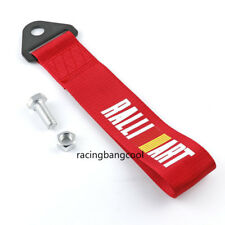Ralliart High Strength Red Nylon Trailer Tow Ropes Strap Tow for Universal Car