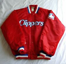 Vintage Majestic Los Angeles San Diego Clippers Hardwood Classics Jacket Red XXL