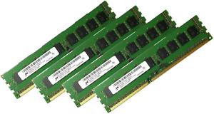 4x 8GB 32GB DDR3 ECC UDIMM Speicher RAM Micron PC3L-12800E 1600 MHz Unbuffered