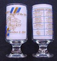 RARE, OFFICIAL 1985 BREEDERS CUP HORSE RACING GLASS - AQUEDUCT RACE COURSE!