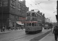 PHOTO  GLASGOW TRAM NO 1356 IN LONDON ROAD AT KENT STREET 30/8/62