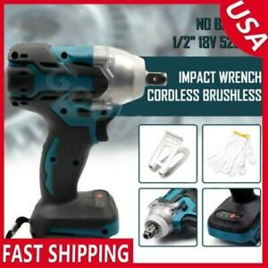 "520N.m 18V 1/2"" Cordless Brushless Impact Wrench For Makita Battery DTW285Z USA"