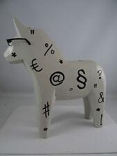 Vintage Ikea Symbols Wood Dala Horse Figurine Sweden