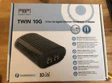 Sonnet Twin 10G Thunderbolt 2 to Dual-Port 10 Gigabit Ethernet Adapter