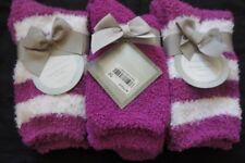 Charter Club Womens Socks Shoe Sz 6 - 10 Striped Purple Multi 3 Pairs Super Soft