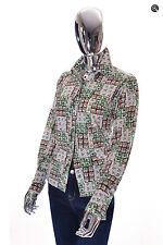 Trendy Womens Vintage Unbranded Handmade LS Floral Patchwork Blouse Shirt M