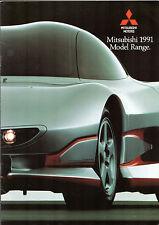 Mitsubishi 1990-91 UK Market Sales Brochure Colt Lancer Galant Shogun L200 L300