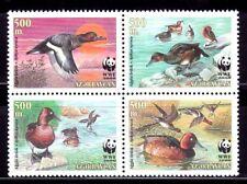 SELLOS TEMA WWF AZERBAIYAN 2000 395/98 AVES PATOS 4v.