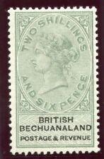 Bechuanaland 1887 QV 2s 6d green & black MLH. SG 17. Sc 18.