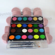 TAG Body Art Pearl, Neon, Regular Palette Brushes, Face & Body Paint Makeup Kit