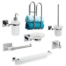 Chrome Bath Accessory Sets with Toilet Roll Holders