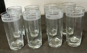 Set Of 8 Texas A&M Drinking Glasses Vintage - No Chips Or Cracks