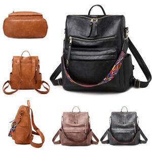 WOMENS SOFT LEATHER TRAVEL SCHOOL BACKPACK RUCKSACK LADIES SHOULDER BAG HANDBAG
