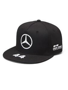 MERCEDES AMG PETRONAS #44 LEWIS HAMILTON FLAT PEAK CAP BLACK