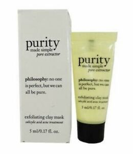 New Philosophy Exfoliating Clay Mask 3ml Sample In Box