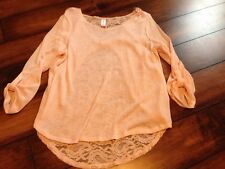 Juniors Pink Lace Back Sweater Size Large (11-13)