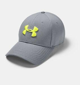 Under Armour Mens UA Blitzing II Stretch Fit Cap Hat Gray
