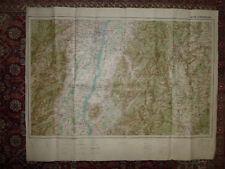 Carte ancienne Strasbourg et Alsace, Forêt-Noire, Bade Wurtemberg 1912 Militaria