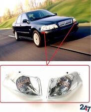 NEW VOLVO S40/V40 2000 - 2003 FRONT WHITE CLEAR TURN SIGNAL INDICATOR PAIR