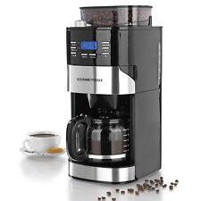 GOURMETmaxx Kaffeemaschine integriertes Mahlwerk 1050W Edelstahl Schwarz