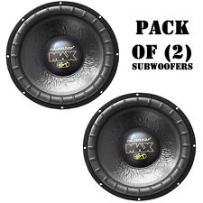 "Pair of Lanzar MAX12D Max 12"" 1000W Small Enclosure Dual 4 Ohm Subwoofers"