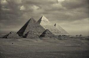 EGYPT ANCIENT  PYRAMID giza photo landscape A0 CANVAS PRINT  Egyptian old