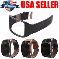 For Samsung Gear S SM-R750 Watch Genuine Leather Bracelet Wrist Strap Band #USA