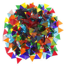 160g Multicolor Triangle Clear Glass Pieces Mosaic Tile- Art Crafts 14mm