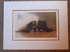 """Jan peter tripp artiste allemand """"les deux côtés de suis"""" signé 1986 gravure estampe"""