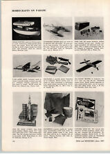 1957 PAPER AD Hawk Cox Revell Scale Model Airplanes ICB Missile Lionel Train
