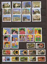 N°150- lot 36 timbres 2015 en  séries complètes-oblitérés -très bon état