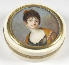 "J.-B.-J. Augustin-School ""Important box with portrait of Marshal Ney's wife"""
