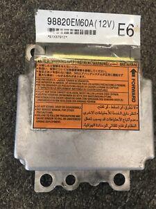 2010 2011 2012 Nissan VERSA SRS Control Module 98820EM60A OEM