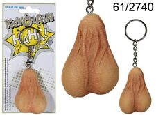 Testicles Keyring Keychain Pair of Balls Joke Key Ring / Scrotum Novelty Gift