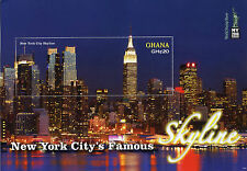 Ghana 2016 MNH New York City Famous Skyline NY2016 1v S/S Skyscrapers Stamps