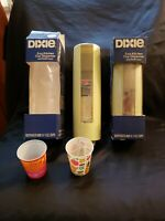 Vintage 1976 Dixie Cup Dispensers And Cups.