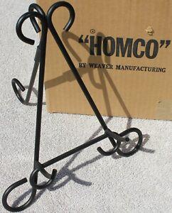 "NOS Black Iron Artwork Photo Display Stand Tripod by Weaver for HOMCO 1143DE 10"""