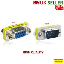 9 Pin Male to Female Gender Changer Converter Db9 Serial Adapter Rs232 Connector